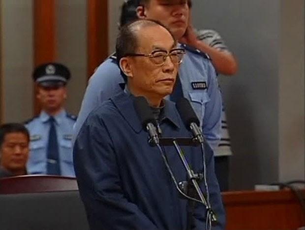 Ex-ministro de Ferrovias da China Liu Zhijun pode ser condenado à morte por corrupção (Foto: CCTV/Reuters)