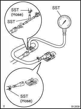 Check Fuel Pressure - Toyota Sienna 1997-2003 Repair