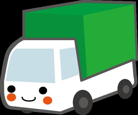 トラック君のイラスト無料イラストフリー素材