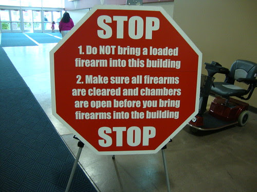 the gun show sign