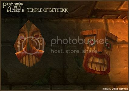 Postcards of Azeroth: Temple of Bethekk, by Rioriel Ail'thera