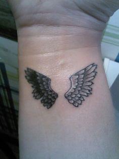 Angel Wings Tattoos On Wrist