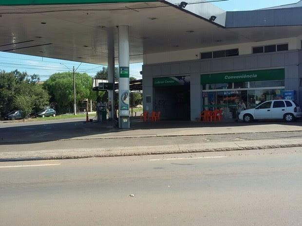 Posto de combustíveis onde argentina foi esquecida em Passo Fundo (Foto: Patricia Oliveira/Divulgação)