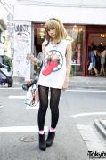 Japanese Girl's Original Fake Top, Joyrich x GIZA Dinosaur Bag & Suede Booties