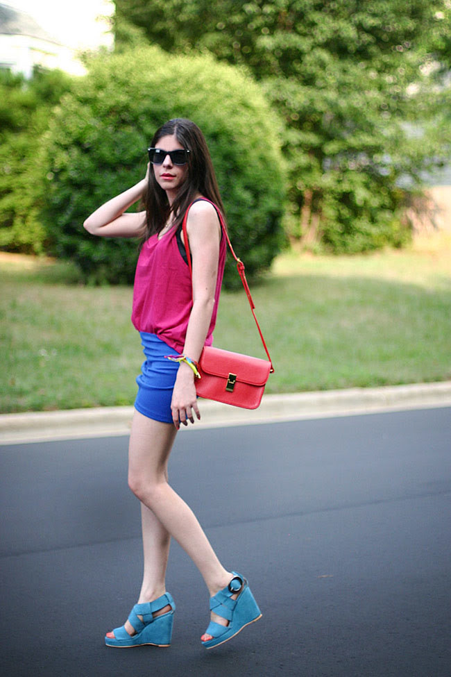 Color Blocking Fashion outfit, Ray ban wayfarers
