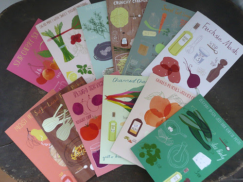 complete set of 12 recipe cards