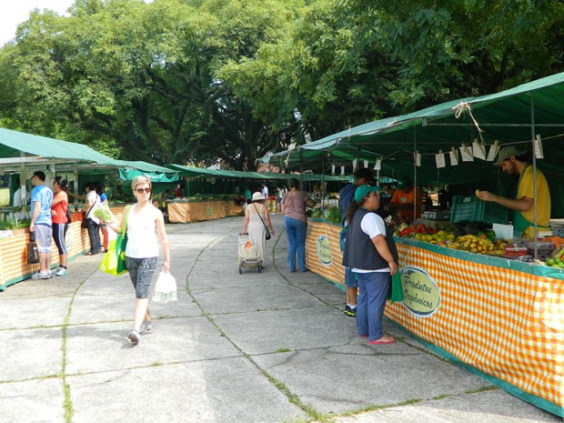 Feira no Modelódromo do Ibirapuera é vista por agricultores como importante fonte de vendas (Foto: Gabriela Gasparin/G1)
