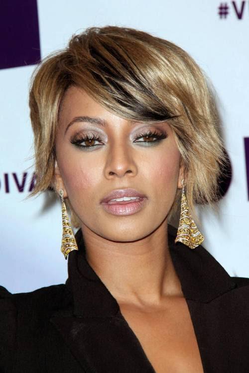 asymmetric short haircut for thick hair