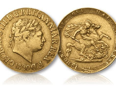 King George III Gold Sovereign 1817 1820   Hattons of London