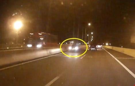 Hình ảnh Truy tìm xe ô tô chạy ngược chiều trên cao tốc Long Thành số 1