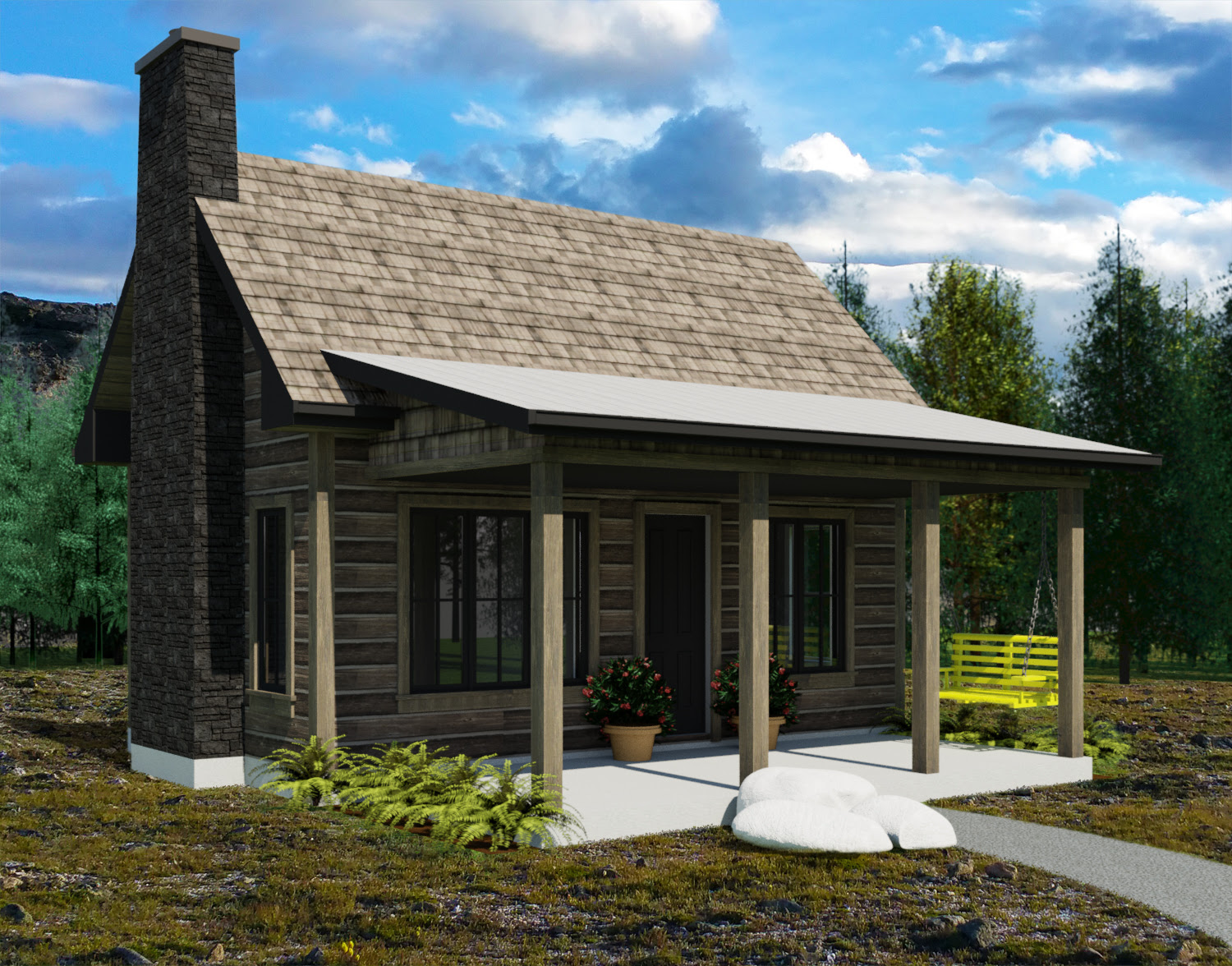 The Yukon Tiny House Plans by Robinson Residential - Contemporary Small House Plans