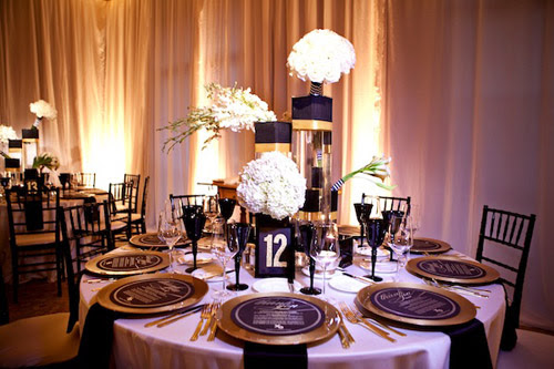 Black And White Wedding Reception Decor Ideas Elitflat