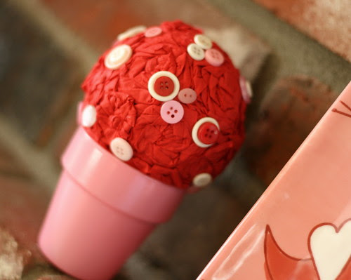 Paper Rose Potted Ball