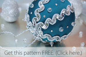 Get a free no-sew fabric ornament pattern.