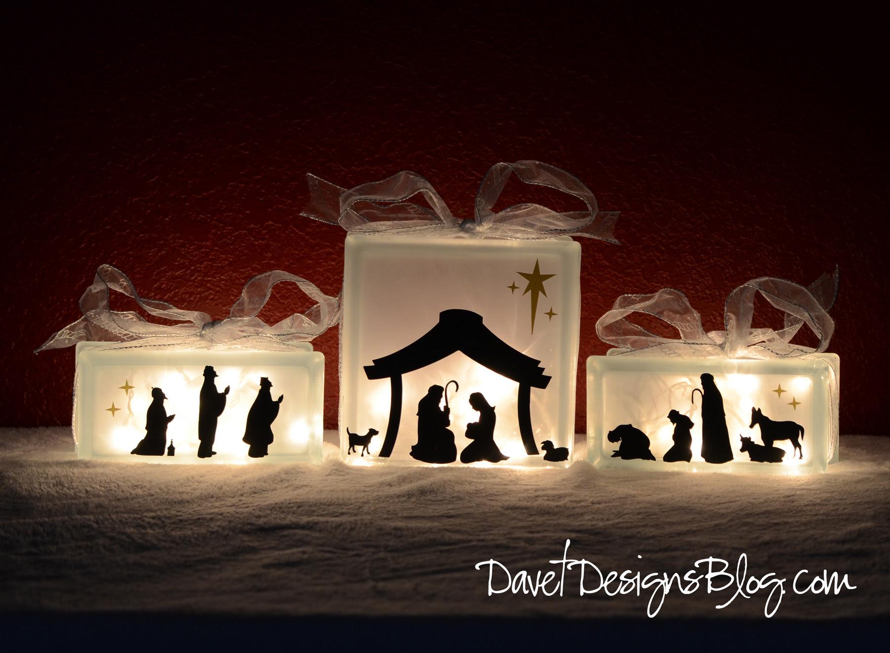KraftyBlok Nativity Scene With Vinyl Decals Tutorial