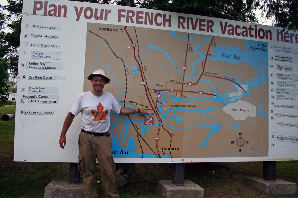 The French River Map