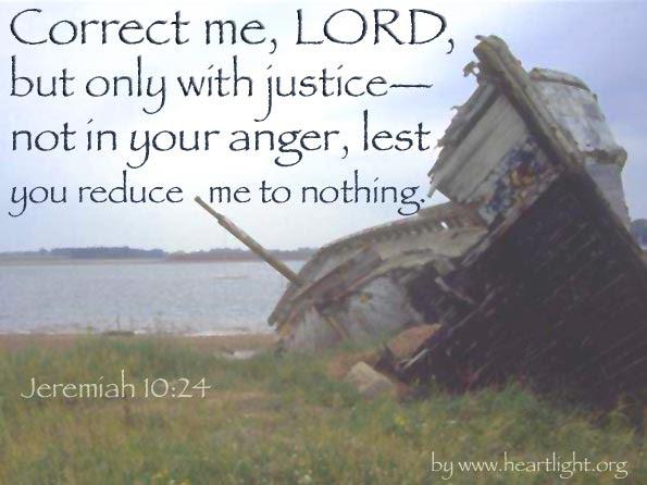 Inspirational illustration of Jeremiah 10:24