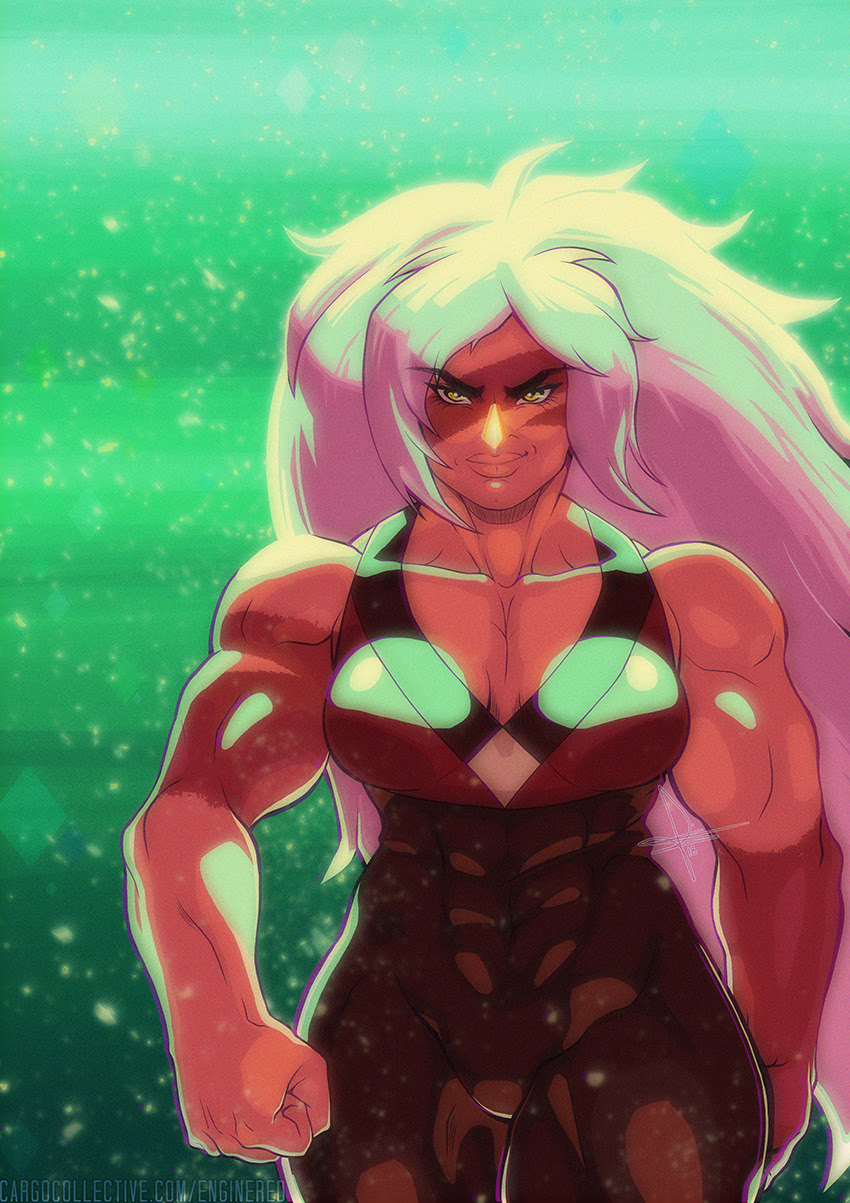 Jasper fanart because I cry about her at least twice a week. @riotbreaker did the edit on the right and I couldn't decide which one I liked best, so you get both! c: There's a song that goes with it...
