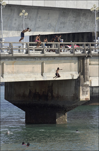 Kids Jumping at Sarasin Bridge