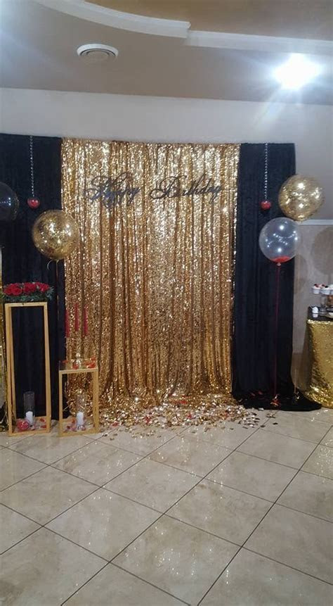 Gold Sequing Backdrop   Christmas Holidays Ideas   70th