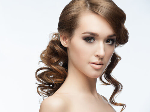 Classic Half Updo with Waves