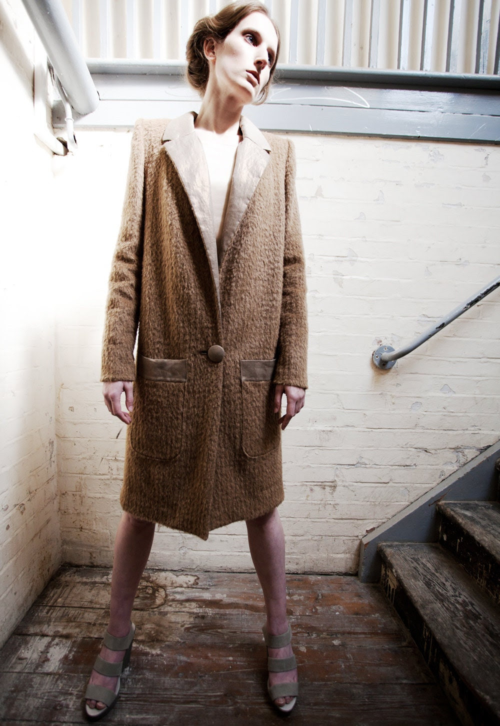 Ruth Fawn Mohair Long Wool Coat - annapopovich
