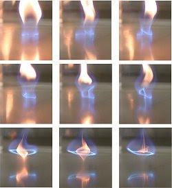 Redemoinhos de fogo azuis fazem combustão sem fumaça