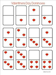 Valentine's Day Dominoes Printable Freebie