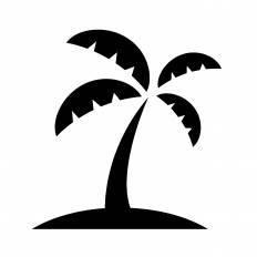 ヤシの木シルエット イラストの無料ダウンロードサイトシルエットac