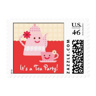 Sweet Tea Birthday Party Postage zazzle_stamp