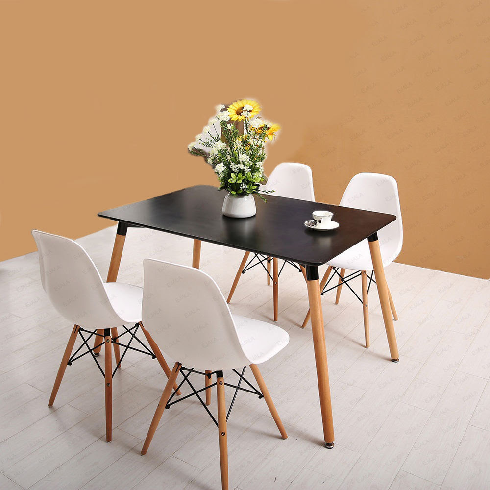 Dining table and 4 chairs retro DSW Eiffel  eBay