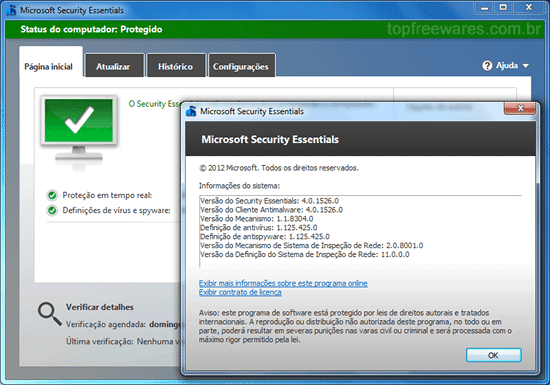 Antivírus gratuito para Windows - Microsoft Security Essentials