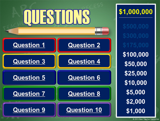 Are You Smarter Than A 5th Grader Powerpoint Template Classroom Game