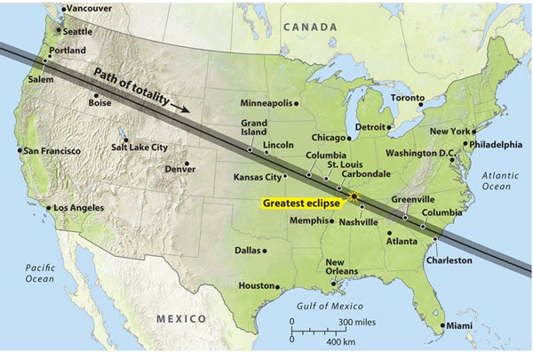 Image result for august eclipse path