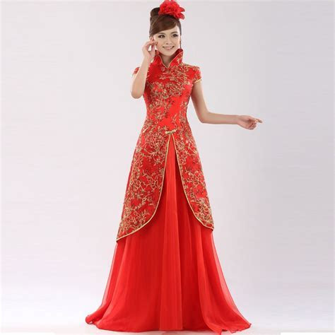 Chinese Traditional Qipao and Qungua Bridal Dresses
