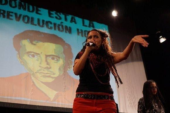 Malena d'Alessio en als celebraciones. Foto: Cortesía del Autor.