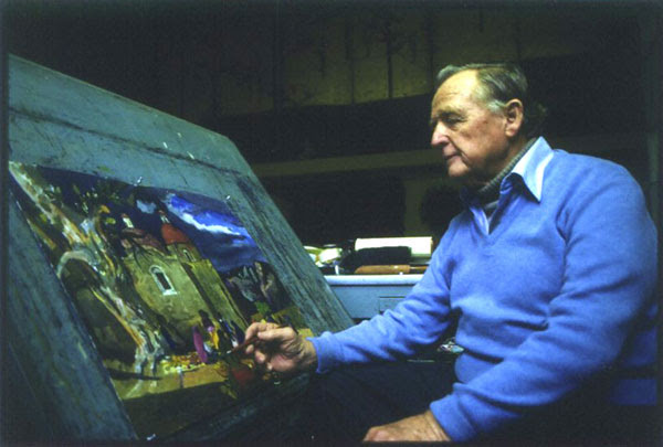 Millard Sheets At the Easel