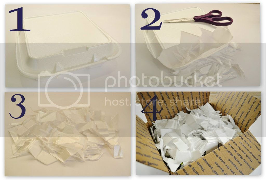 How To: Upcycle a Take Out Box into Packing Material