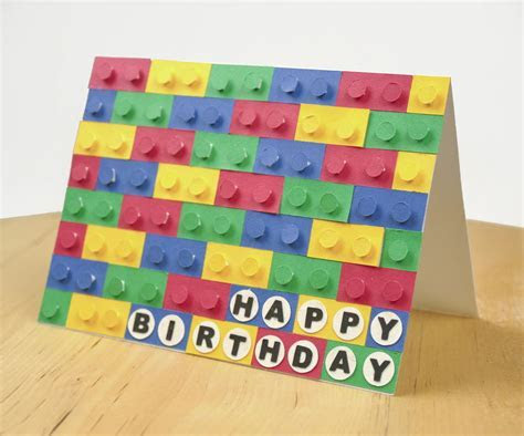 3D Paper LEGO Birthday Card   AllFreePaperCrafts.com