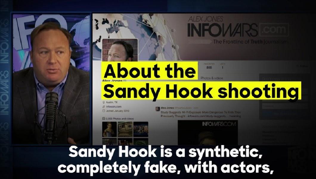 Image result for alex jones sandy hook fake