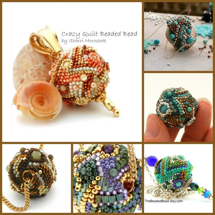 Freeform Art Bead Necklace Earrings Stick Pin