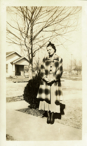 One woman and coat