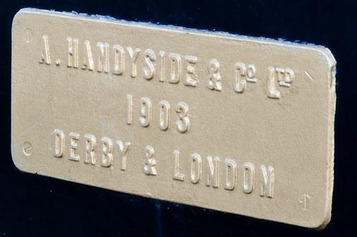 Handyside plaque on the Swingbridge at Castletown Harbour, Isle of Man.