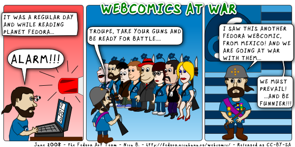 [fedora webcomic: war]