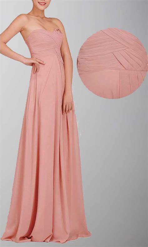 Amazon.com: Sweetheart Aline Chiffon Pastel Pink Long