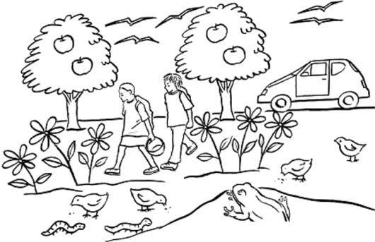 Caminitodelaescuelacom Dibujo Del Caminito De La Escuela Para