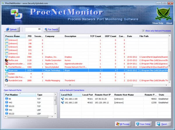 process net monitor