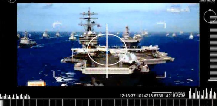 Tela 2017 04 27 em 9.50.17 AM - (VIDEO) Coreia do Norte lança novo vídeo com porta-aviões dos EUA Explodindo e Casa Branca em Crosshairs