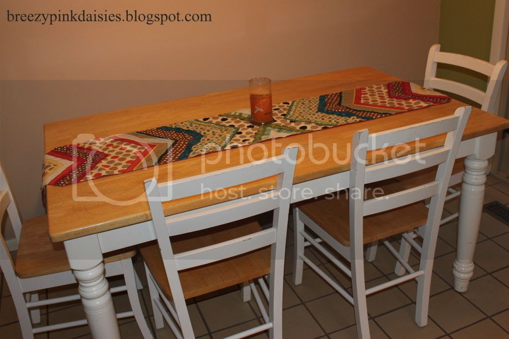 Kitchen table and Pier 1 table runner
