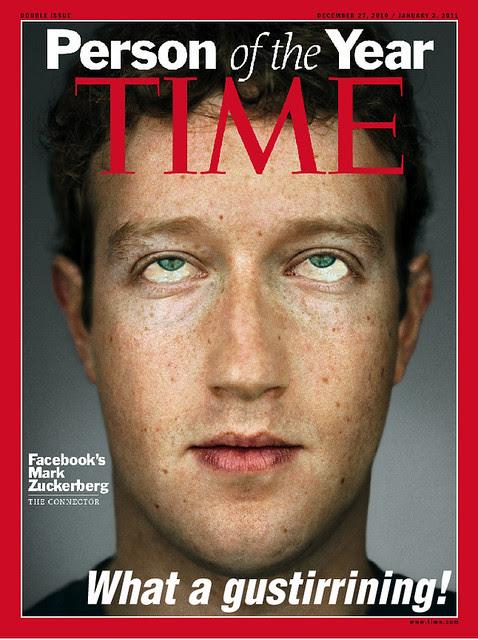 portada retocada de la revista Time con el rostro del fundador de Facebook, Marc Zuckerberg